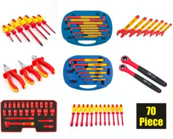 70 Piece VDE Certified Insulated Tool Kit