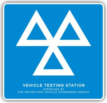 MOT Sign – 3 TRIANGLES (mandatory) – HEAVY DUTY