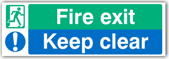 Fire Exit – Keep Clear