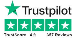 TrustScore 4.9, 357 Reviews