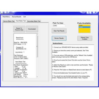 CabCheckS (Computer Aided BrakeCheck Software)
