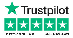 TrustScore 4.8 - 366 Reviews