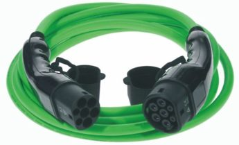 EV Charging Cable Type 2 to Type 2 – 5 metre Green