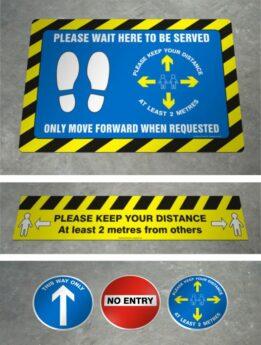 Coronavirus Awareness Floor Sticker Decals