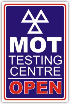 MOT Testing Centre Open Sign (Design A)