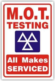 MOT Testing – All Makes Serviced Sign (Design S)