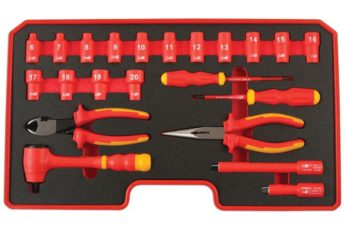 VDE Certified Insulated Socket Set 3/8inch drive 22pc