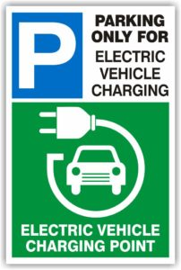Electric Vehicle Charging / Parking Sign